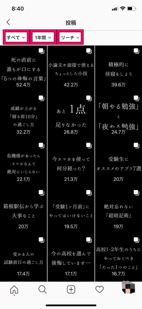 【インスタのインサイト】人気投稿④