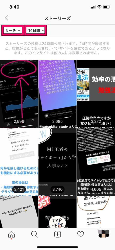 【インスタのインサイト】ストーリー投稿④
